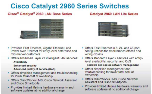 Cisco Catalyst 2960 Series Switching Solutions for LAN Base and Bite
